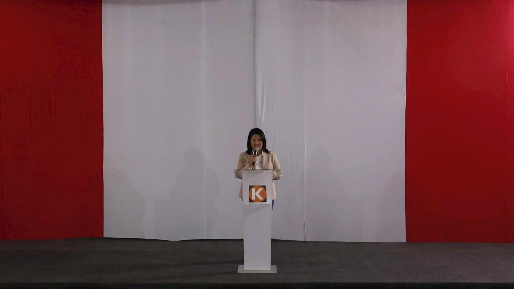 Keiko Fujimori reconoce resultados de elección en Perú - Keiko Fujimori perú anuncio comunicado