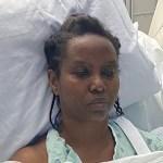 Primeras fotos de la viuda de Moise en el hospital - Martine Moïse. Foto de @martinejmoise