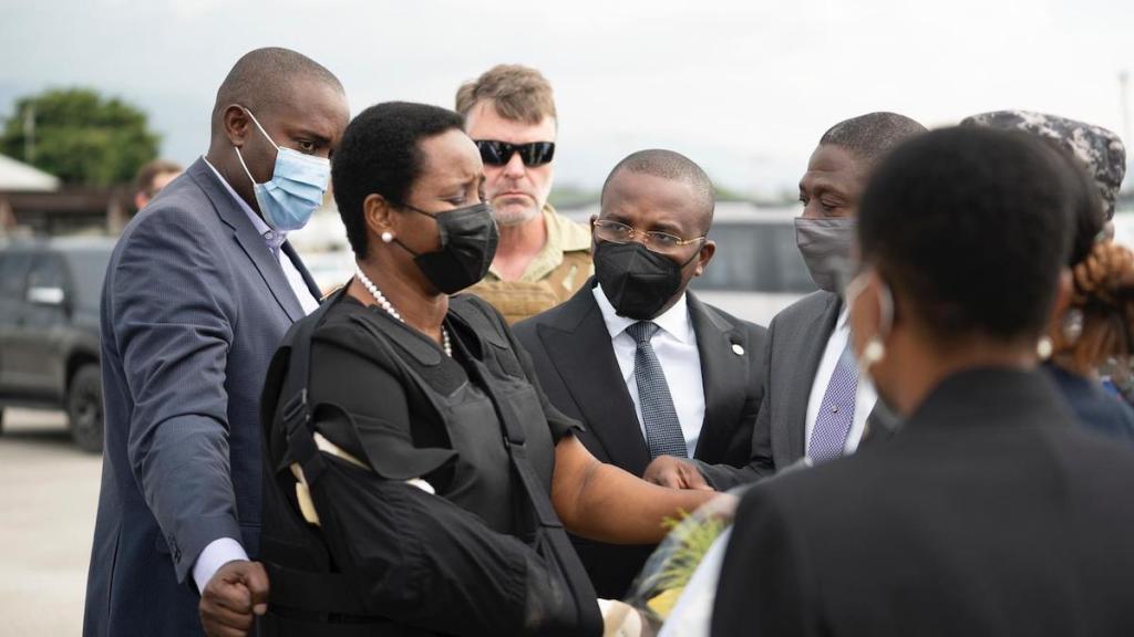 La viuda del presidente Jovenel Moise regresa a Haití - Martine Moise, esposa del asesinado presidente de Haití. Foto de @FrantzExantusHT
