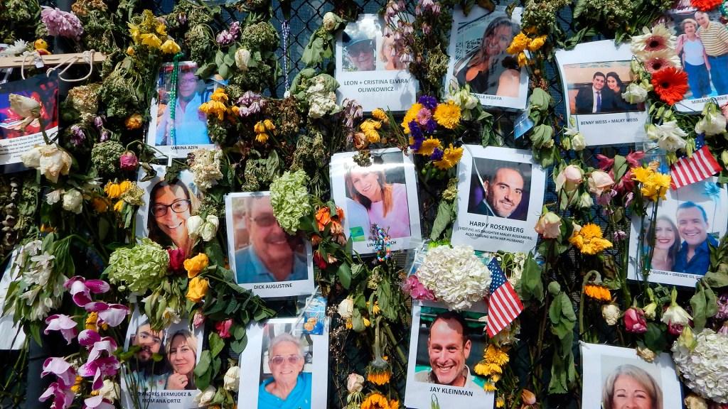 Identifican entre las víctimas del edificio de Miami a la mamá de una niña de 7 años - Memorial de víctimas de derrumbe en edificio de Miami. Foto de EFE