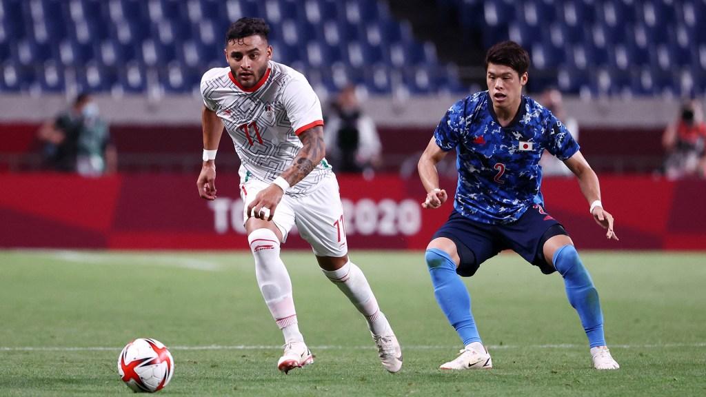 La Selección de México pierde 1-2 frente a Japón en Juegos Olímpicos - México contra Japón en Juegos Olímpicos de Tokio. Foto de @miseleccionmx