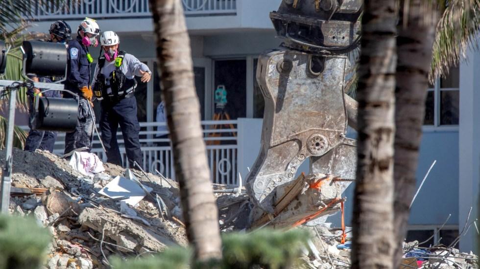 Aumentan a 22 los muertos por derrumbe de edificio en Miami - Miami derrumbe edificio muertos