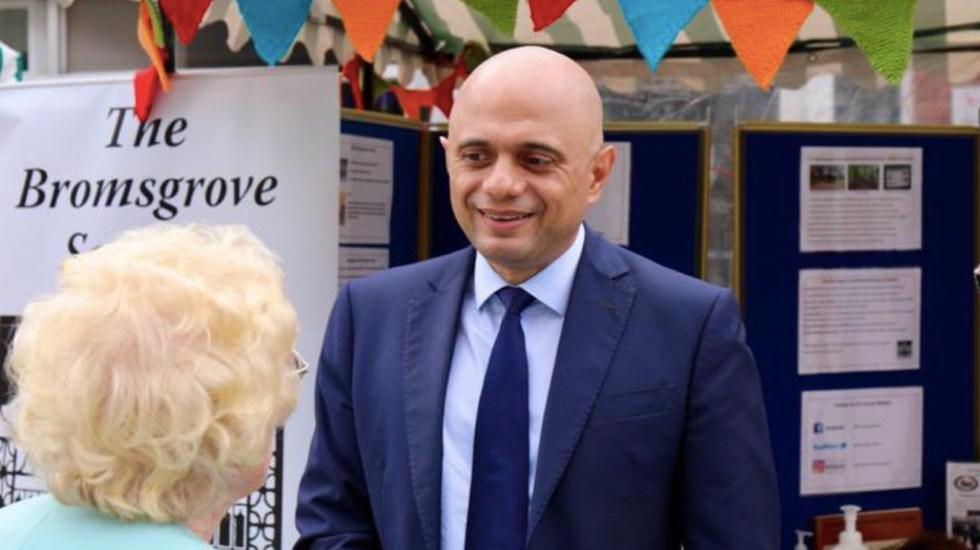 Ministro de Salud británico da positivo a COVID-19 pese a estar vacunado - Ministro de Salud británico da positivo a COVID-19 pese a estar vacunado. Foto de Twitter @sajidjavid