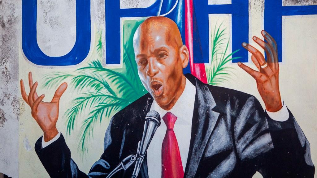 El magnicidio de Haití, otro más en la trágica lista de América - Mural de Jovenel Moise, presidente de Haití que fue asesinado. Foto de EFE