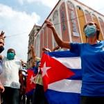 Calma tensa en una Cuba sin internet tras las protestas masivas - Manifestación en La Habana, Cuba. Foto de EFE