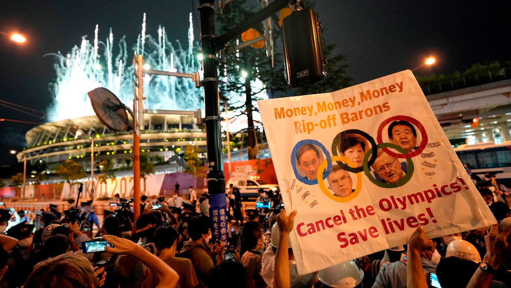 Un detenido en manifestaciones contra Juegos Olímpicos de Tokio - protestas Tokio 2020 Juegos Olímpicos