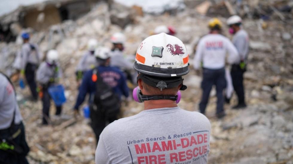 Aumenta a 36 el número de muertos por derrumbe en edificio de Miami - Aumenta a 36 el número de muertos por derrumbe en edificio de Miami. Foto de @MiamiDadeFire