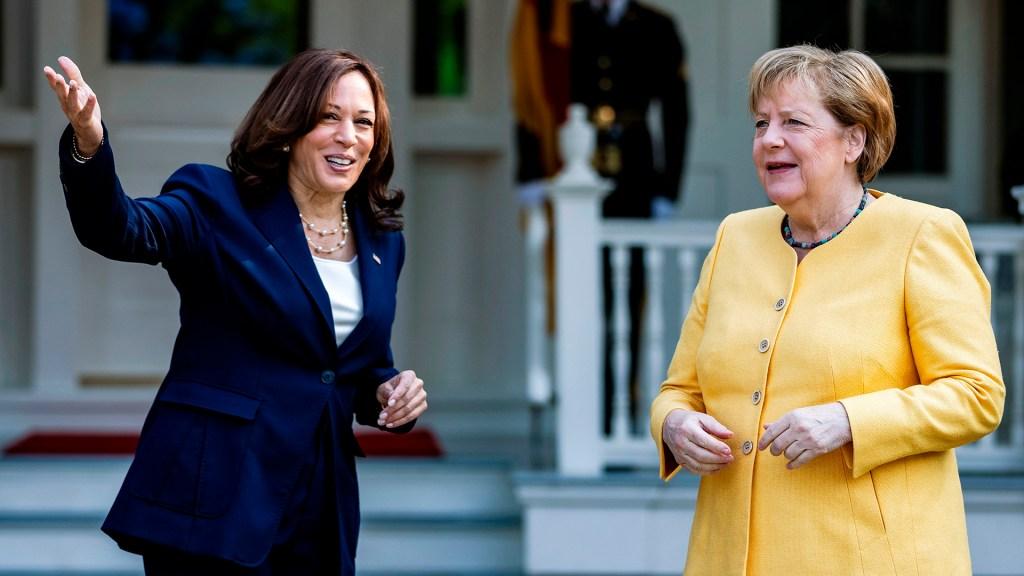 Harris y Merkel escenifican la amistad entre Alemania y EE.UU. en un desayuno - Reunión Harris y Merkel. Foto de EFE