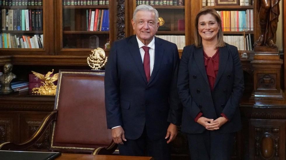Maru Campos acuerda con AMLO atender pobreza e inseguridad en Chihuahua - Reunión Maru Campos y AMLO López Obrador