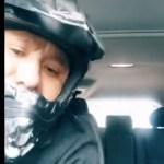 #Video Sujeto roba vehículo y se molesta porque víctima tarda en sacar a su hijo