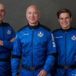 """Jeff Bezos sigue sumando éxitos a bordo del New Shephard en el """"mejor día"""" de su vida - Viaje al espacio de Jeff Bezos. Foto de @blueorigin"""