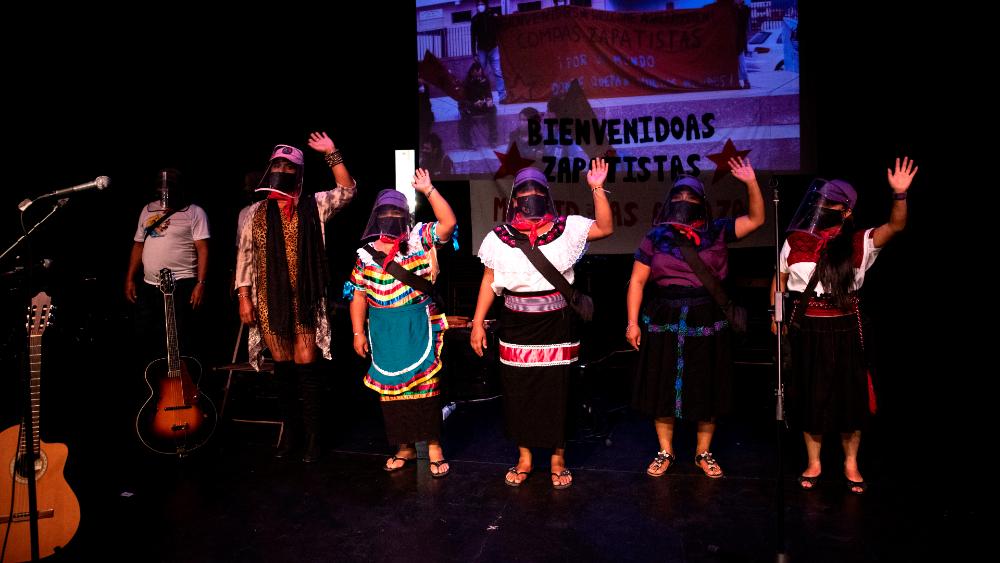 Miembros del EZLN llegan a Madrid en su lucha contra la desigualdad - Zapatistas EZLN Madrid Escuadrón 421
