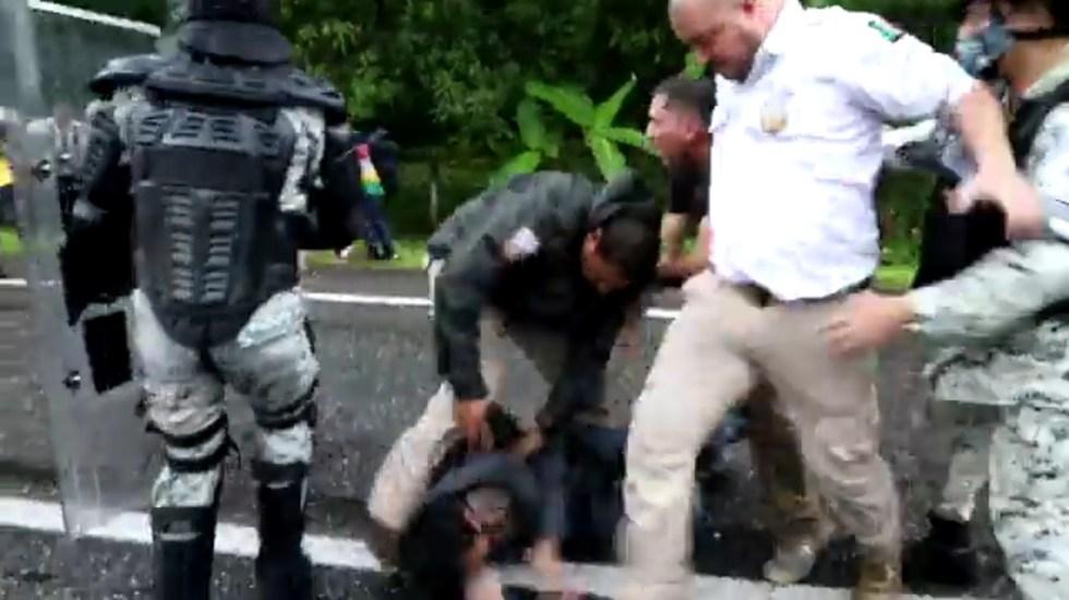 Organizaciones exigen desmilitarización tras agresiones a migrantes - Organizaciones exigen desmilitarización tras agresiones a migrantes. Captura de pantalla