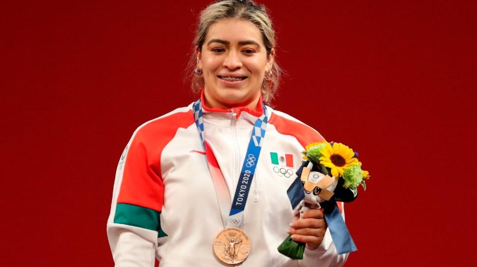 AMLO felicita a Aremi Fuentes por su bronce; espera más medallas de México en Tokio 2020 - Aremi Fuentes Tokio 2020