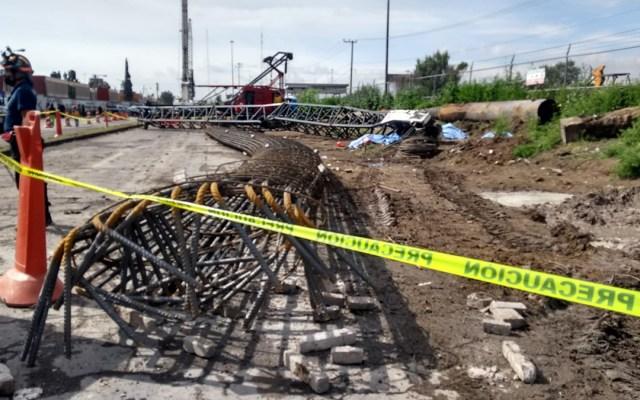 Caída de grúa en Ecatepec mata a cinco hombres en su primer día de trabajo - Caída de grúa en Ecatepec