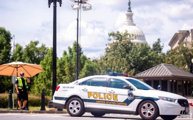 Una valla negra vuelve a rodear el Capitolio de EEUU ante protesta del sábado - Capitolio Congreso EE.UU. bomba