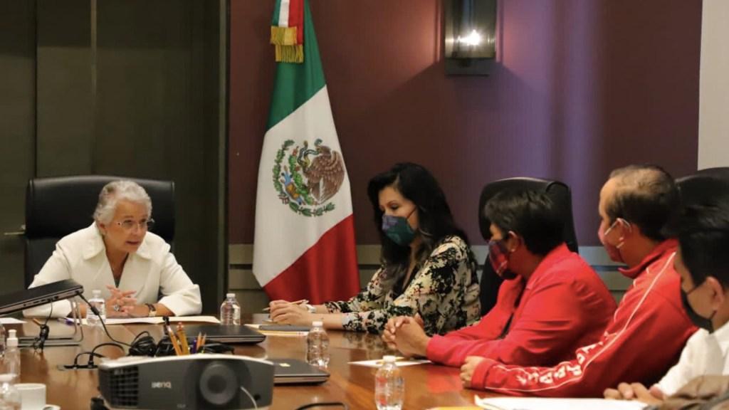 Olga Sánchez Cordero se reúne con madre de José Eduardo Ravelo - Olga Sánchez Cordero se reúne con madre de José Eduardo Ravelo. Foto de Segob