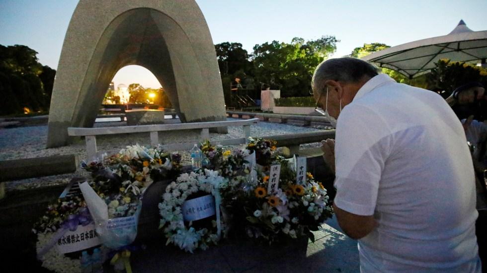 Hiroshima conmemora 76 años de la caída de la bomba atómica - Ceremonia para conmemorar un aniversario más de la caída en Hiroshima de una bomba nuclear