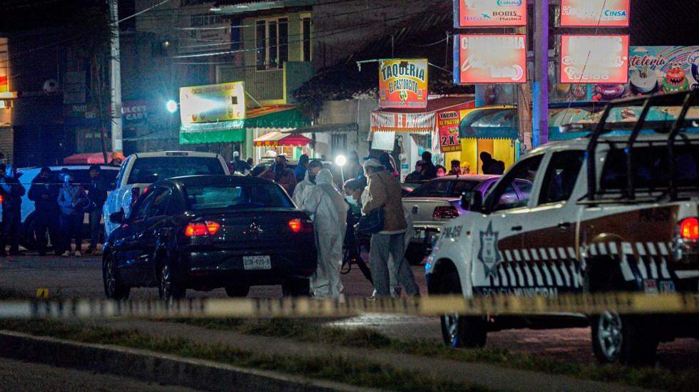 Suman 97 mil 43 homicidios dolosos en lo que va del sexenio - Escena del crimen en Chiapas