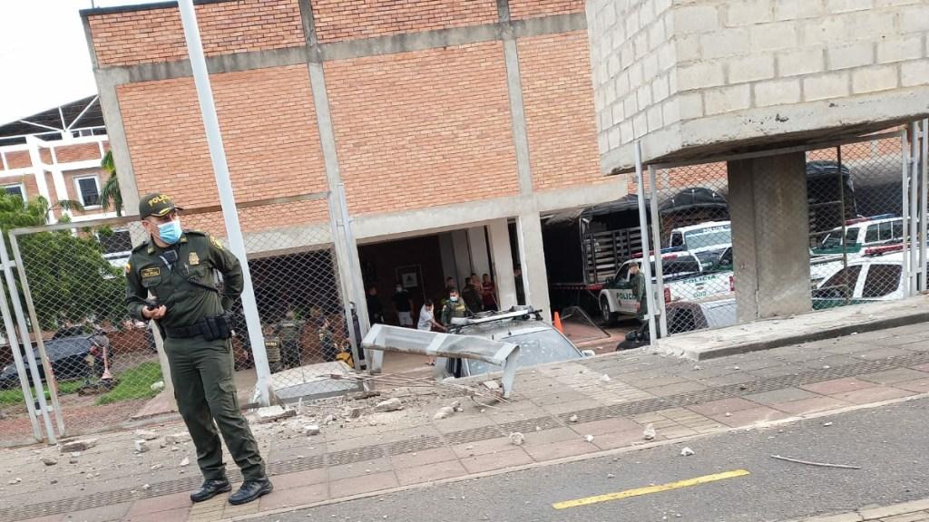 Atentado contra estación de Policía en Colombia deja 14 heridos - Estación de Policía en Cúcuta tras atentado con explosivo