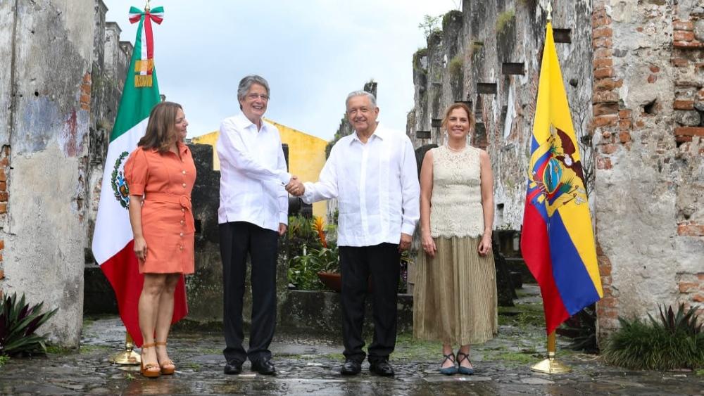 """Ecuador y México iniciarán diálogo """"de inmediato"""" para TLC - Guillermo Lasso López Obrador Ecuador México"""
