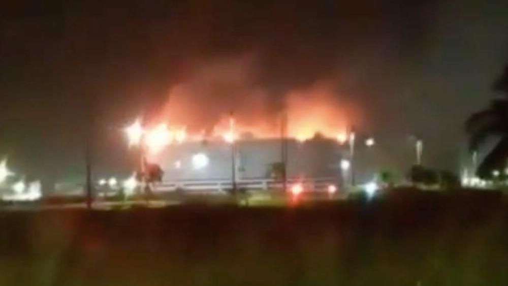 Se incendia tanque de almacenamiento de terminal Dos Bocas - Incendio Terminal Marítima Dos Bocas