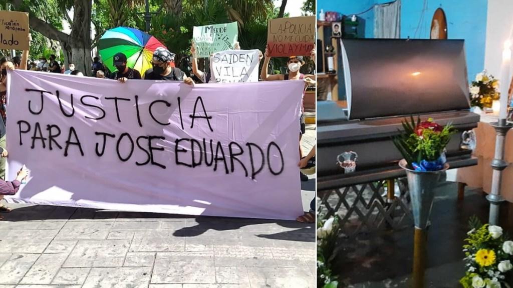 Protestan en Mérida por el asesinato de José Eduardo; ya fue sepultado - José Eduardo Ravelo funeral misa Yucatán 4