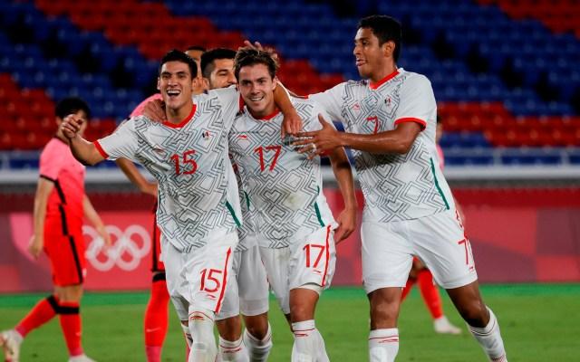 Cambian de horario partido de México vs Japón en Juegos Olímpicos - Jugadores de la Selección Mexicana de futbol en partido de Juegos Olímpicos
