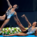 Nuria Diosdado y Joana Jiménez finalizan en el lugar 12 de natación artística - Nuria Diosdado y Joana Jiménez en final de natación artística