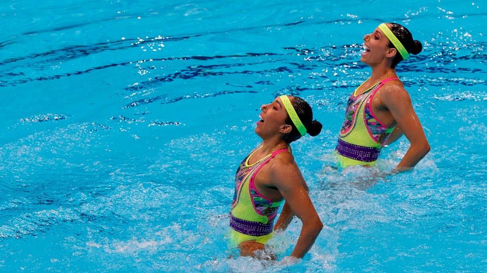 Nuria Diosdado y Joana Jiménez clasifican a la final de natación artística - Nuria Diosdado y Joana Jiménez en rutina técnica de natación artística