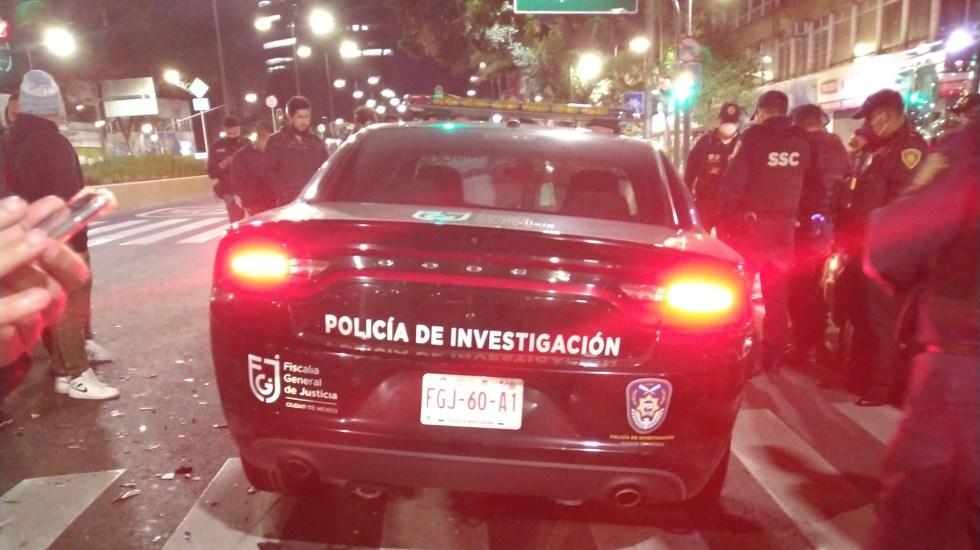 Patrulla de la Fiscalía capitalina protagoniza choque contra Uber - Patrulla de la Fiscalía capitalina que protagonizó choque