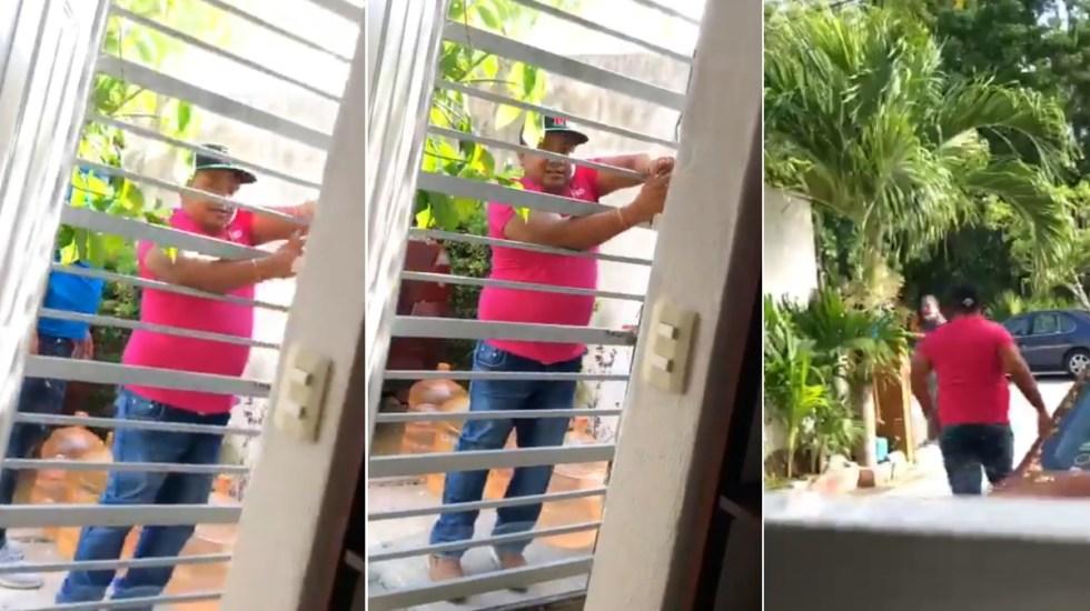 #Video Sorprenden a presuntos criminales entrando a casa en Quintana Roo - Puerto Morelos Quintana Roo robo criminales