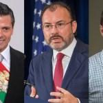 Vinculan en presunta red delictiva a EPN, Videgaray y Anaya