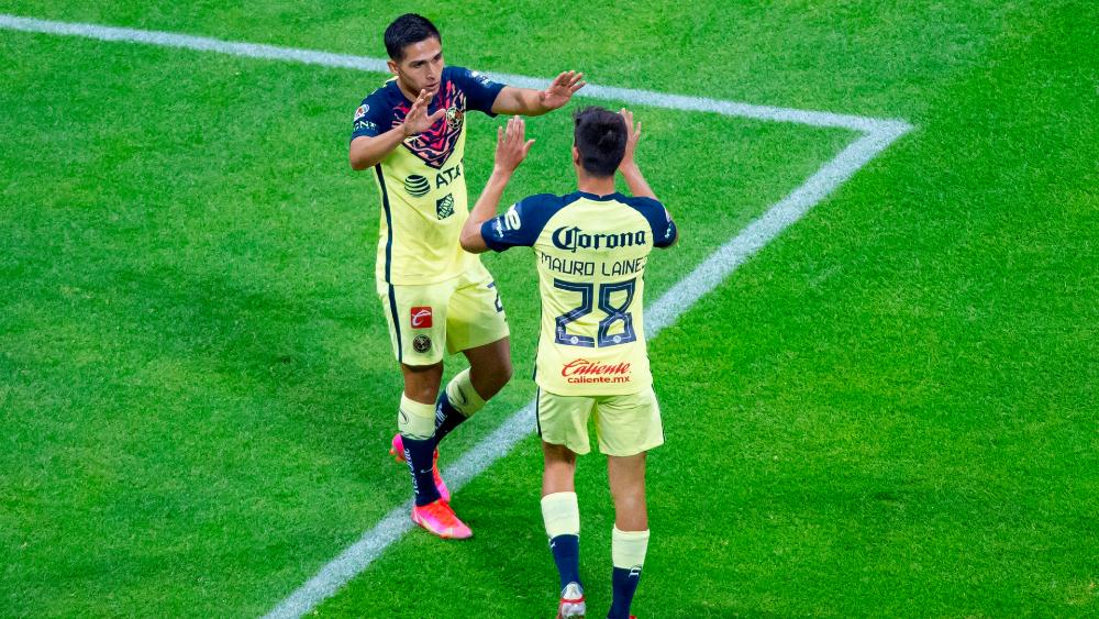 América vence al Puebla y escala al tercer lugar del Apertura 2021 - Salvador Reyes América Águilas