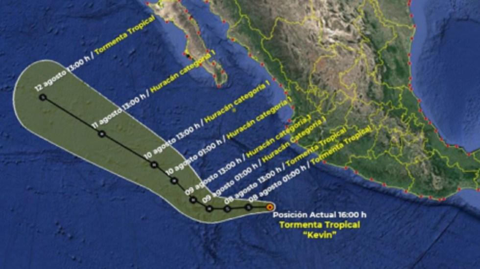 Se forma tormenta tropical Kevin frente a las costas del Pacífico mexicano - tormenta tropical Kevin