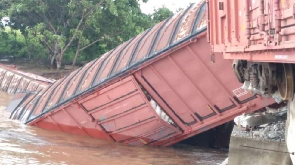 Se descarrila tren en Sinaloa tras paso de Nora - Toyhua Sinaloa tren descarrilado