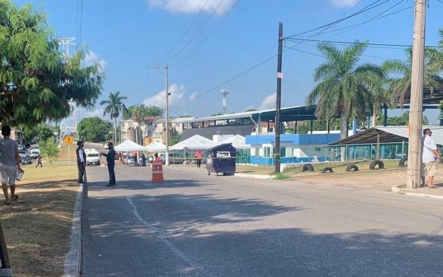 Vacíos, módulos de vacunación en Tampico pese a alza de contagios - Baja afluencia en módulos de vacunación en Tampico pese a tercera ola de COVID-19. Foto de La Razón de Tampico