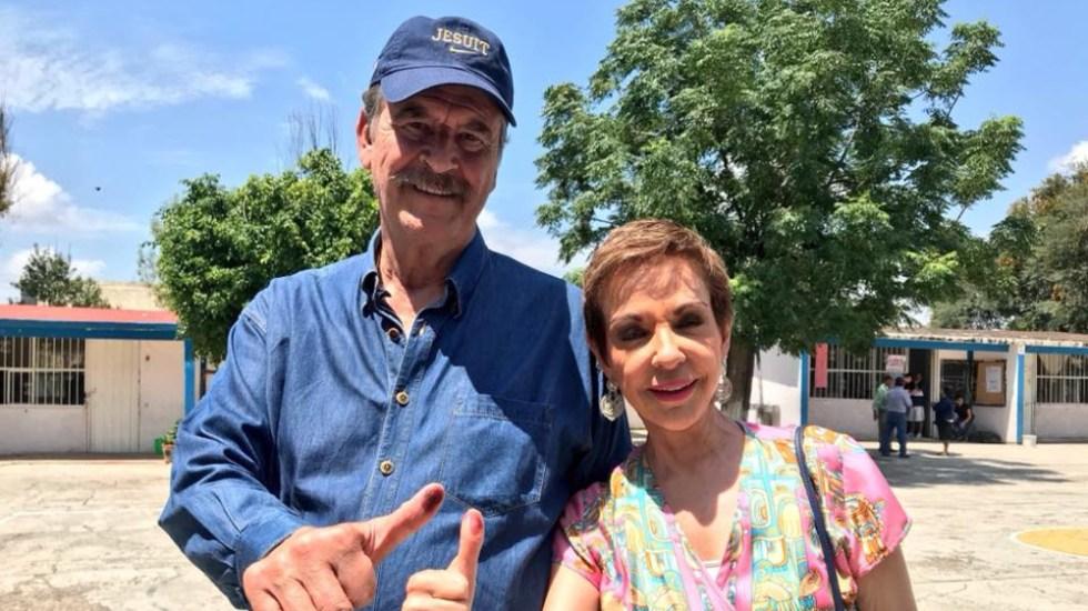 Dan de alta a Fox y Sahagún tras hospitalización por COVID-19 - Vicente Fox Martha Sahagún