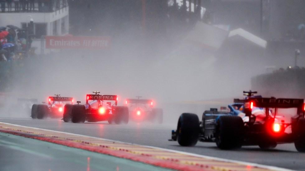 Bandera roja por lluvia en el Gran Premio de Bélgica - Vuelta de reconocimiento en GP de Bélgica