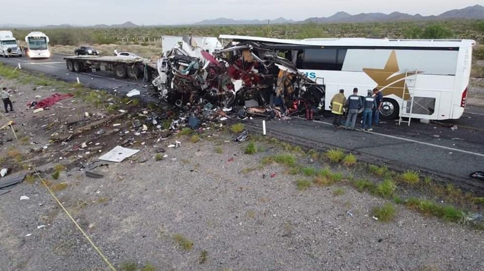 Accidente carretero en Sonora deja 16 muertos - Accidente carretero en Sonora