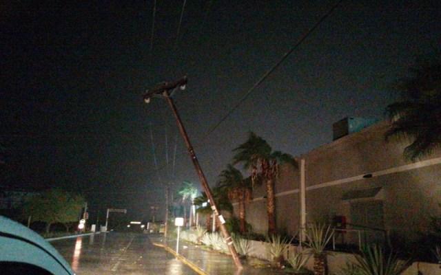 Huracán Olaf dejó sin luz a 191 mil usuarios en Baja California Sur - Afectación a infraestructura eléctrica en Baja California Sur por el huracán Olaf