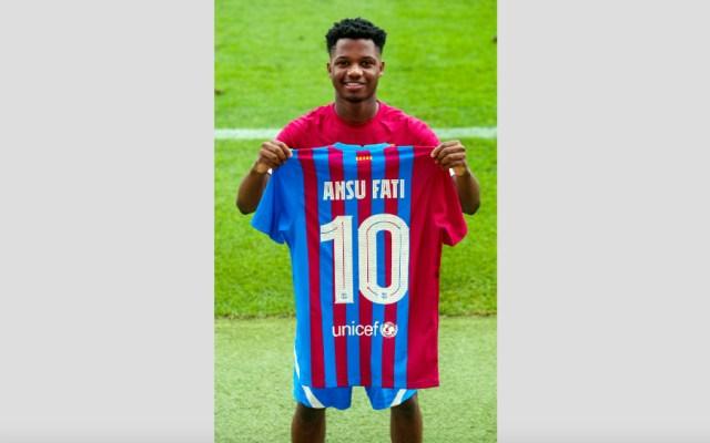 Ansu Fati hereda el dorsal 10 de Leo Messi en el Barcelona - Ansu Fati 10 Barcelona