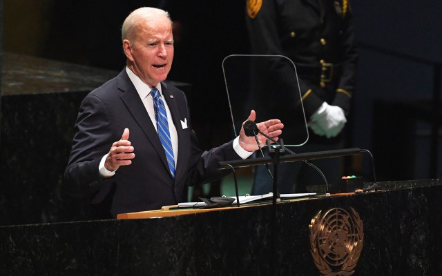 """Biden asegura que no busca una """"nueva Guerra Fría"""" con China - Biden en 76 Asamblea General de la ONU"""