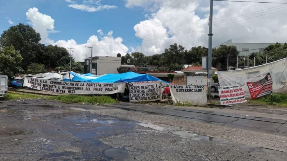 AMLO llama al diálogo a la CNTE por bloqueo de vías del tren en Michoacán - bloqueo vías tren Michoacán CNTE