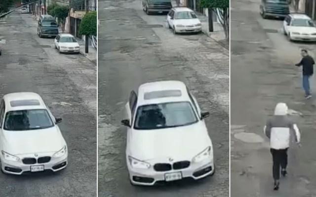 #Video Hombre escapa de intento de asalto en Ecatepec - BMW Ecatepec asalto intento sujeto calle