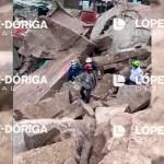 #Video Hombre busca a su esposa e hijos entre escombros del Cerro del Chiquihuite