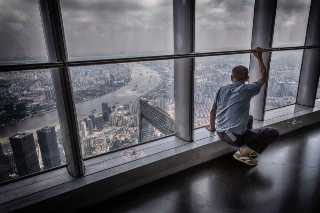 Mirador de la Torre de Shanghái en China.