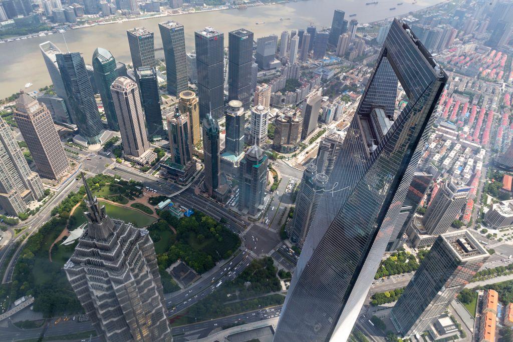 mirador de la Torre de Shanghái en China