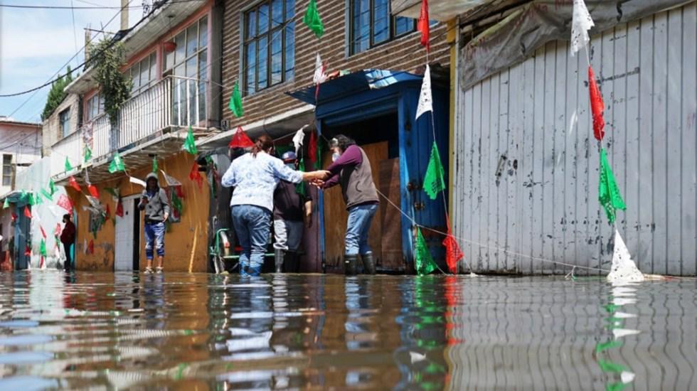 Inicia en Ecatepec censo de familias afectadas por inundaciones - Colonia afectada en Ecatepec por inundaciones tras lluvias. Foto de @GobiernodeEcatepecdeMorelos
