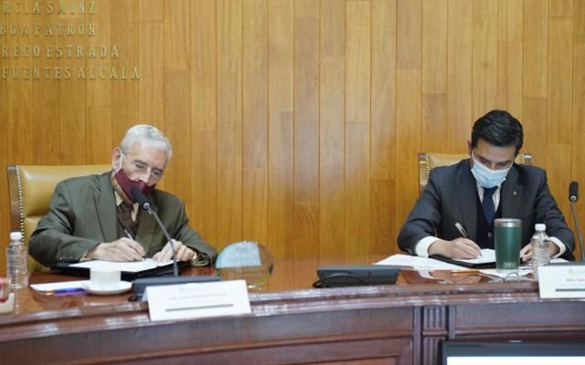 Firman SCT e IMSS convenio para información sobre obligaciones fiscales en materia de seguridad social - Foto IMSS.